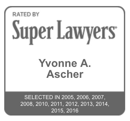 Yvonne Ascher is selected by Super Lawyers